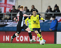 4th February 2020; Kassam Stadium, Oxford, Oxfordshire, England; English FA Cup Football; Oxford United versus Newcastle United; Matthew Longstaff of Newcastle prepares to tackle Nathan Holland of Oxford