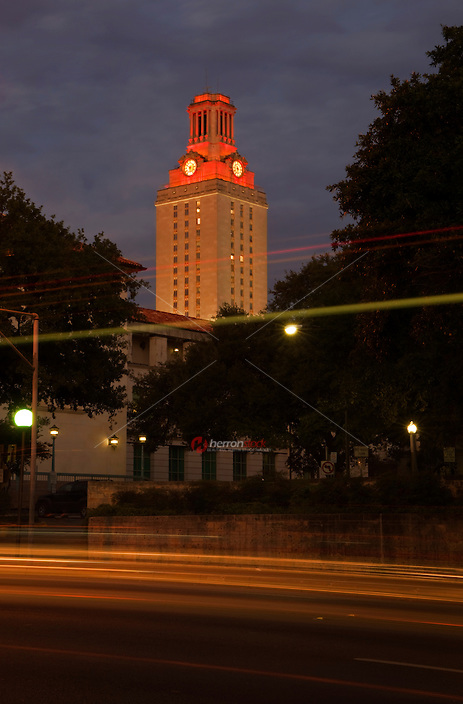 Campus illuminates orange signaling a win for the football team