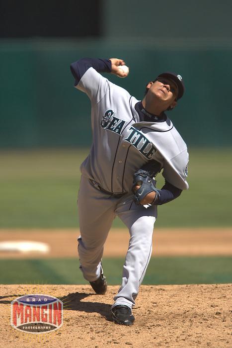 Felix Hernandez. Seattle Mariners vs Oakland Athletics. Oakland, CA 9/5/2005 MANDATORY CREDIT: Brad Mangin