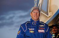 Apr 16, 2009; Avondale, AZ, USA; NASCAR Camping World Series West driver Brian Jackson prior to the Jimmie Johnson Foundation 150 at Phoenix International Raceway. Mandatory Credit: Mark J. Rebilas-