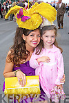 STYLE QUEEN: Carol Kennelly, Tralee who took home the title of Best Dressed Lady at the Galway Races on Thursday last pictured with her daughter Rosie.   Copyright Kerry's Eye 2008