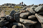 Appalachian Trail...The summit of Mount Moosilauke during the summer months...Located in the White Mountains, New Hampshire USA .