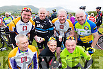 Cyclists at the Ring of Kerry Charity Cycle on Saturday, front from left: Donal Courtney, Fiona Brosnan and John Brosnan. Back from Left: Brendan O'Connor, Aidan Hobbert, Mike Horgan and Johnny Brosnan.