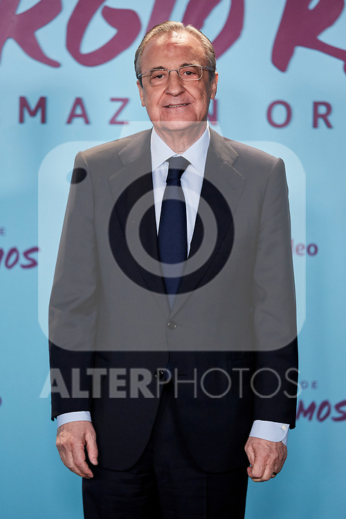 "Florentino Perez attends to ""El Corazon De Sergio Ramos"" premiere at Reina Sofia Museum in Madrid, Spain. September 10, 2019. (ALTERPHOTOS/A. Perez Meca)"