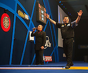 04.01.2015.  London, England.  William Hill PDC World Darts Championship.  Finals Night.  Gary Anderson (4) [SCO] celebrates the winning double to win the championships. Gary Anderson won the match against Phil Taylor 7-6.