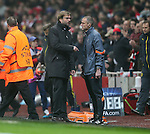 Dortmund's Jurgen Klopp has words with an official<br /> <br /> UEFA Champions League- Arsenal vs Borussia Dortmund- Emirates Stadium - England - 26th November 2014 - Picture David Klein/Sportimage