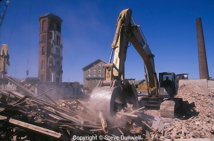 Mill demolition, Fall River, MA