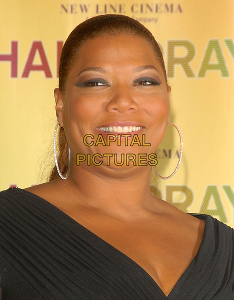 QUEEN LATIFAH .Attends The Hairspray Photocall at Showest held at The Paris Hotel in Las Vegas, California, USA..March 14th, 2007.headshot portrait hoop earrings .CAP/DVS.©Debbie VanStory/Capital Pictures