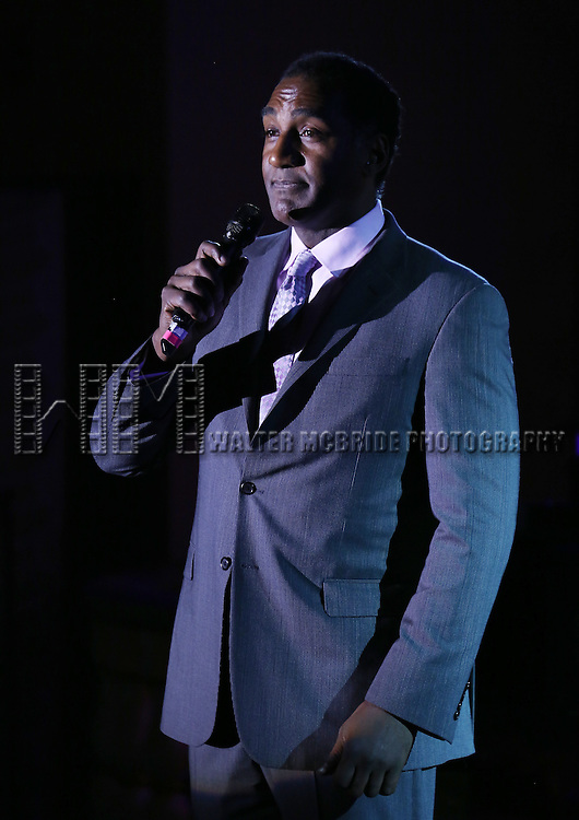 Norm Lewis performs during the Drama League's 30th Annual 'Musical Celebration of Broadway' honoring Neil Patrick Harris at the Pierre Hotel on February 3, 2014 in New York City.