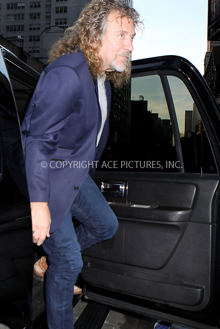 WWW.ACEPIXS.COM....December 3 2012, New York City....Robert Plant made an appearance on the Late Show with David Letterman on December 3, 2012 in New York City ....By Line: Nancy Rivera/ACE Pictures......ACE Pictures, Inc...tel: 646 769 0430..Email: info@acepixs.com..www.acepixs.com
