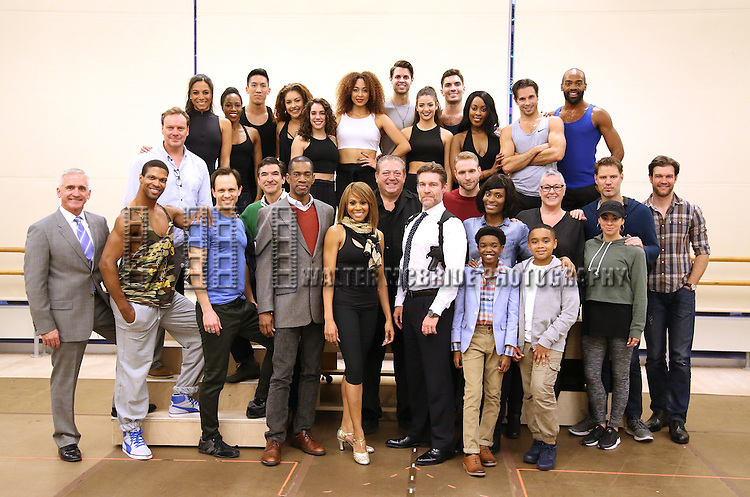 The cast and creative team during North American Premiere presentation of 'The Bodyguard' at The New 42nd Street Studios on November 10, 2016 in New York City.