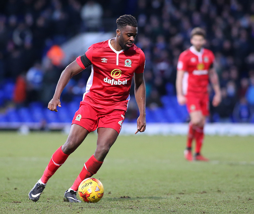 Blackburn Rovers' Hope Akpan in action<br /> <br /> Photographer David Shipman/CameraSport<br /> <br /> The EFL Sky Bet Championship - Ipswich Town v Blackburn Rovers - Saturday 14th January 2017 - Portman Road - Ipswich<br /> <br /> World Copyright &copy; 2017 CameraSport. All rights reserved. 43 Linden Ave. Countesthorpe. Leicester. England. LE8 5PG - Tel: +44 (0) 116 277 4147 - admin@camerasport.com - www.camerasport.com