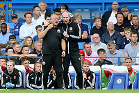 Sheffield United Manager, Chris Wilder and Assistant Manager, Alan Knill during Chelsea vs Sheffield United, Premier League Football at Stamford Bridge on 31st August 2019