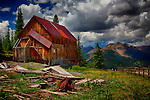 Colorful image of abandoned building in a Colorado ghost town
