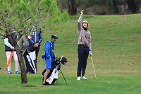 Adrian Meronk (POL) on the 5th fairway during Round 4 of the Challenge Tour Grand Final 2019 at Club de Golf Alcanada, Port d'Alcúdia, Mallorca, Spain on Sunday 10th November 2019.<br /> Picture:  Thos Caffrey / Golffile<br /> <br /> All photo usage must carry mandatory copyright credit (© Golffile | Thos Caffrey)