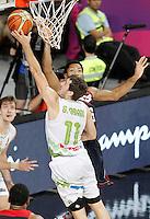 Slovenia's Goran Dragic (l) and USA's Derrick Rose during 2014 FIBA Basketball World Cup Quarter-Finals match.September 9,2014.(ALTERPHOTOS/Acero)