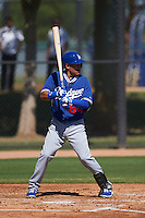 Los Angeles Dodgers Ronald Torreyes (84) during an instructional league game against the Milwaukee Brewers on October 13, 2015 at Cameblack Ranch in Glendale, Arizona.  (Mike Janes/Four Seam Images)
