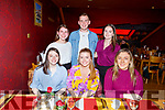 Enjoying the evening out in Ristorante Uno on Friday evening. Seated l to r: Eabha McCarthy, Emer Leahy and Elaine Condon. Back l to r: Ellen O'Brien, Dylan O'Connor and Elizabeth McHugh.