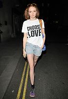 Lily Cole at the &quot;The Philanthropist&quot; theatre cast stage door departures, Trafalgar Studios, Whitehall, London, England, UK, on Wednesday 14 June 2017.<br /> CAP/CAN<br /> &copy;CAN/Capital Pictures /MediaPunch ***NORTH AND SOUTH AMERICAS ONLY***