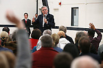 Former Florida Gov. Jeb Bush answers questions from the audience at a town hall meeting in Reno, Nev., on Wednesday, May 13, 2015. <br /> Photo by Cathleen Allison