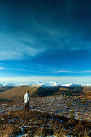 The Crianlarich Mountains from An t-Sidhein, Strathyre, Loch Lomond and the Trossachs National Park, Stirlingshire