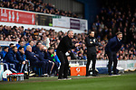 The two opposing managers, Paul Lambert, left, and the visitor's Carl Robinson watching the second-half as Ipswich Town play Oxford United in a SkyBet League One fixture at Portman Road. Both teams were in contention for promotion as the season entered its final months. The visitors won the match 1-0 through a 44th-minute Matty Taylor goal, watched by a crowd of 19,363.