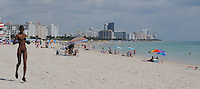 From the tip of South Beach, South Point, looking up and accross the entire Miami Beach landscape, people lap up the sun, sand, sights and warm ocean waters of beautiful Miami Beach Florida