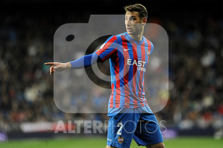Levante UD´s Ivan Lopez during 2014-15 La Liga match between Real Madrid and Levante UD at Santiago Bernabeu stadium in Madrid, Spain. March 15, 2015. (ALTERPHOTOS/Luis Fernandez)