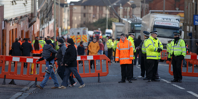 Police cordon at Tannadice