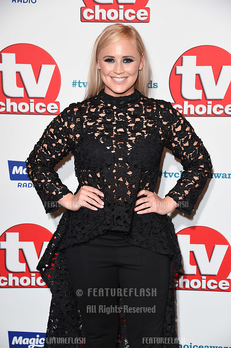 LONDON, UK. September 10, 2018: Amy Walsh at the TV Choice Awards 2018 at the Dorchester Hotel, London.<br /> Picture: Steve Vas/Featureflash