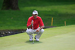 cesar Monasterio (ARG) lines up his putt on the 5th green during Day 3 of the BMW Italian Open at Royal Park I Roveri, Turin, Italy, 11th June 2011 (Photo Eoin Clarke/Golffile 2011)