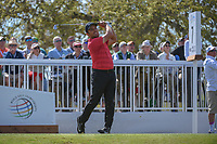 Francesco Molinari (ITA) watches his tee shot on 7 during round 1 of the World Golf Championships, Dell Match Play, Austin Country Club, Austin, Texas. 3/21/2018.<br /> Picture: Golffile | Ken Murray<br /> <br /> <br /> All photo usage must carry mandatory copyright credit (&copy; Golffile | Ken Murray)