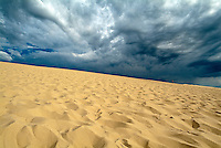 Clouds over the Great Dune of Pyla on the Bassin d'Arcachon, France.