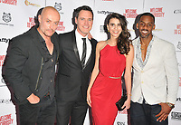 Sean Cronin, Ben Pickering, Lara Heller and Richard Blackwood at the &quot;Welcome To Curiosity&quot; UK film premiere, Prince Charles Cinema, Leicester Place, London, England, UK, on Monday 04 June 2018.<br /> CAP/CAN<br /> &copy;CAN/Capital Pictures