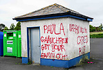 Graffiti on walls in Clogherhead
