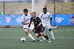 SALEM, VA - DECEMBER 3: Jacob Witte(9) of Calvin College dribbles the ballduring theDivision III Men's Soccer Championship held at Kerr Stadium on December 3, 2016 in Salem, Virginia. Tufts defeated Calvin 1-0 for the national title. (Photo by Kelsey Grant/NCAA Photos)
