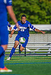 18 September 2013: Hofstra University Pride Forward Kyle Poetzsch, a Freshman from Hicksville, NY, in action against the against the University of Vermont Catamounts at Virtue Field in Burlington, Vermont. The Catamounts defeated the visiting Pride 2-1. Mandatory Credit: Ed Wolfstein Photo *** RAW (NEF) Image File Available ***