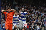Queens Park Rangers 3 Luton Town 2, 09/04/2007. Loftus Road, Championship. Paul Furlong celebrates having scored a last minute goal to win the game. The win for QPR all but secured their Championship survival but left rock-bottom Luton Town staring relegation in the face. Photo by Simon Gill.