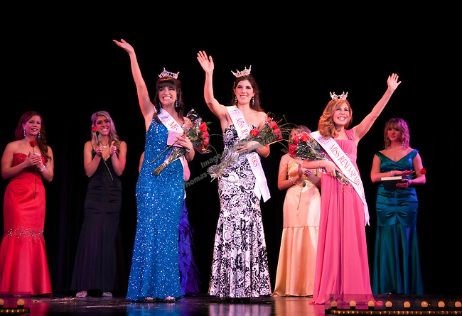 The 2011 Miss Reno-Sparks Pageant winners are from left to right:  Miss University of Nevada Ashton Sunseri, Miss Reno-Sparks Madeline Burak and Reno-Sparks Outstanding Teen Makenzie St. Cyr.  The Pageant was held at Harrahs Reno on March 6th.  Photo by Tom Smedes.