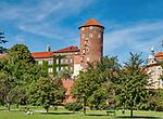 Kraków, 2019-09-10. Baszta Senatorska na Zamku Królewskim na Wawelu, Kraków, Polska<br /> Senator Tower at Wawel Royal Castle, Cracow, Poland