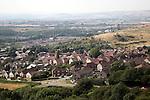 Closed coal mines and housing, Bolsover, Derbyshire, England