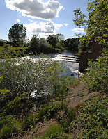 The wier at Topcliffe on the river Ure, North Yorkshire,England