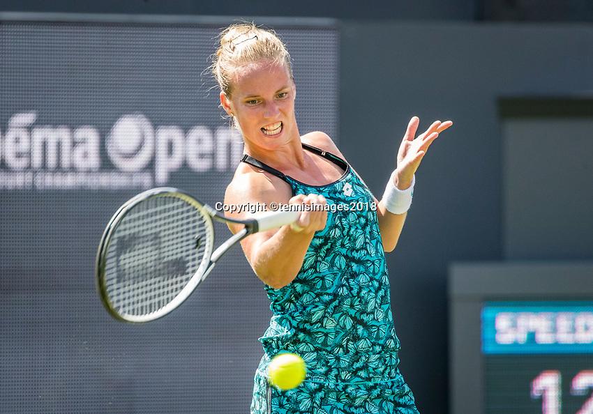 Den Bosch, Netherlands, 11 June, 2018, Tennis, Libema Open, Richel Hogenkamp (NED)<br /> Photo: Henk Koster/tennisimages.com