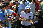 Padraig Harrington (IRL) coming off the 18th green signing autographs for the waiting crowds.on practice day of the USGA at Congressional, Bethesda, Washington, 15/6/11.Picture Fran Caffrey/www.golffile.ie