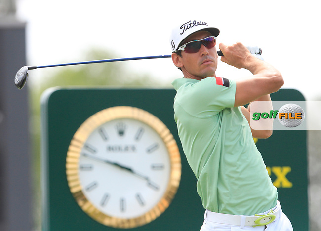 Rafa Cabrera-Bello (ESP) on the 10th tee during Round 1 of the Open de Espana  in Club de Golf el Prat, Barcelona on Thursday 14th May 2015.<br /> Picture:  Thos Caffrey / www.golffile.ie