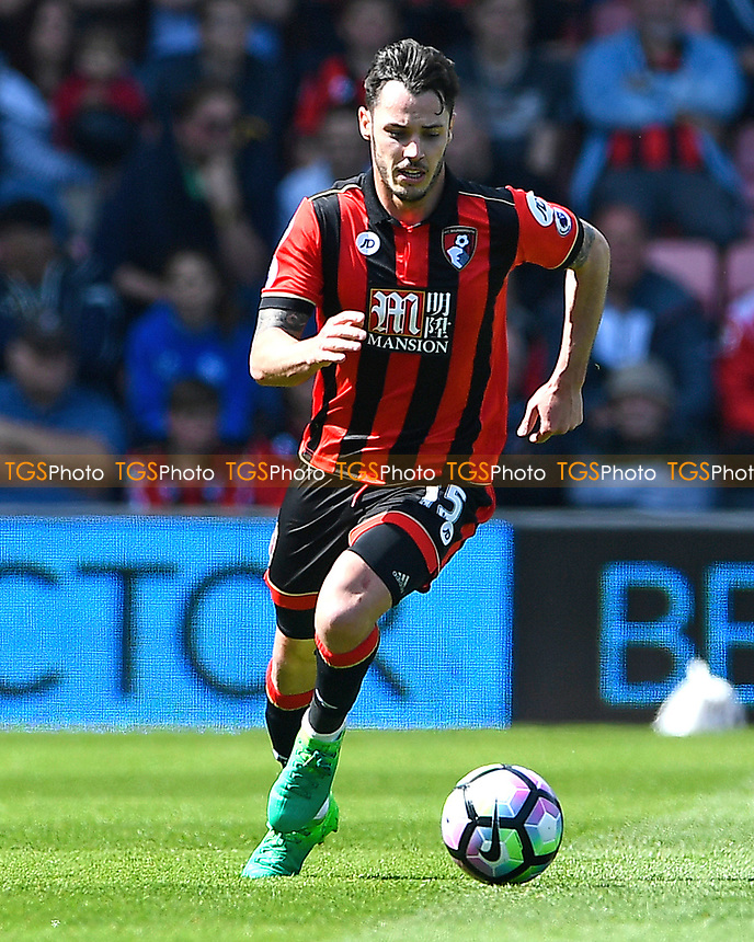 Adam Smith of AFC Bournemouth during AFC Bournemouth vs Burnley, Premier League Football at the Vitality Stadium on 13th May 2017