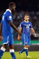 Giuseppe Rossi (R), MArio Balotelli Italia <br /> Napoli 15-10-2013 Stadio San Paolo <br /> Football Calcio Fifa World Cup 2014 Qualifiers <br /> Europe Group B <br /> Italia - Armenia <br /> Italy - Armenia <br /> Foto Andrea Staccioli Insidefoto