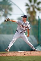 Detroit Tigers pitcher Evan Hill (72) delivers a pitch during an Instructional League game against the Pittsburgh Pirates on October 6, 2017 at Pirate City in Bradenton, Florida.  (Mike Janes/Four Seam Images)