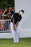 Bubba Watson (USA) chips onto the 9th green during Sunday's Final Round of the WGC Bridgestone Invitational 2017 held at Firestone Country Club, Akron, USA. 6th August 2017.<br /> Picture: Eoin Clarke | Golffile<br /> <br /> <br /> All photos usage must carry mandatory copyright credit (&copy; Golffile | Eoin Clarke)