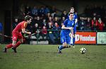 2018-03-11 / Voetbal / Seizoen 2017-2018 / Vosselaar VV - Kapellen / Tom Floren met Ruben Vaes (r. Vosselaar)<br /> <br /> ,Foto: Mpics.be